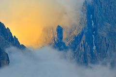 Horizontal de montagne - dolomites, Italie images stock