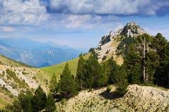 Horizontal de montagne en été Images stock