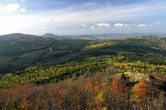 Horizontal de montagne en automne Image libre de droits