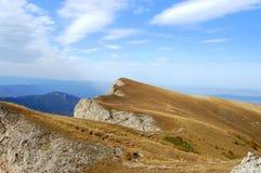 Horizontal de montagne en automne Photographie stock