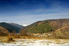 Horizontal de montagne Horezu - de Roumanie Photographie stock