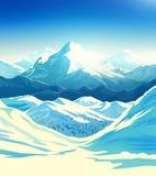 Horizontal de montagne de l'hiver illustration libre de droits