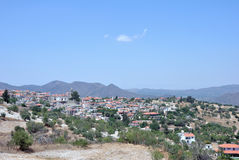 Horizontal de montagne Le village de Kakopetria Photos stock