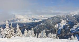 Horizontal de montagne Schladming l'autriche Photographie stock libre de droits