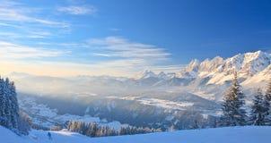 Horizontal de montagne Schladming l'autriche Images libres de droits