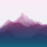 Horizontal de montagne Silhouettes de vecteur de Images libres de droits