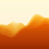 Horizontal de montagne Silhouettes de vecteur de Photographie stock