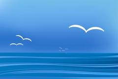 Horizontal de mouette illustration libre de droits