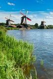 Horizontal de moulin à vent Image stock