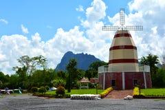 Horizontal de moulin à vent Photo stock