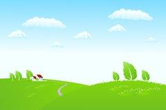 Horizontal de nature avec la maison Image libre de droits