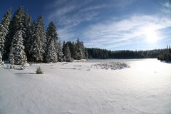 Horizontal de neige Images stock