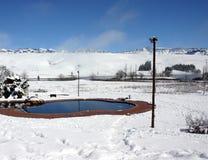 Horizontal de neige photo libre de droits