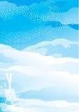 Horizontal de neige de l'hiver Illustration Libre de Droits