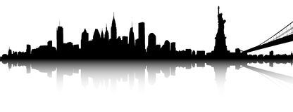 Horizontal de New York illustration stock