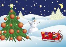 horizontal de Noël illustration libre de droits