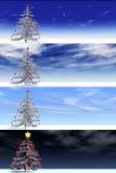 horizontal de Noël de drapeaux Image libre de droits