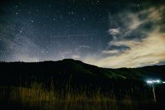 Horizontal de nuit Photographie stock