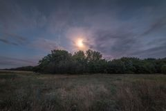 Horizontal de nuit Images libres de droits