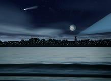 Horizontal de nuit illustration libre de droits