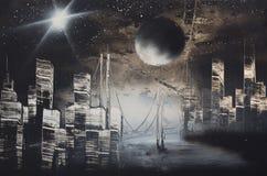 Horizontal de nuit image stock