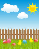 Horizontal de Pâques illustration libre de droits