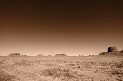 Horizontal de Pano de vallée de monument, Utah, Etats-Unis Photos libres de droits