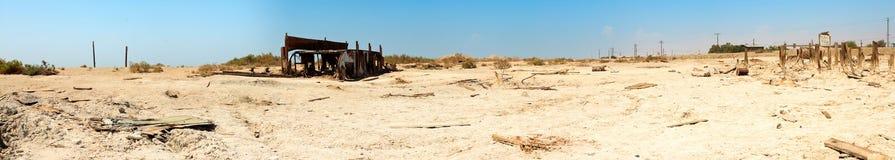 Horizontal de panorama de ville abandonnée. Photos libres de droits