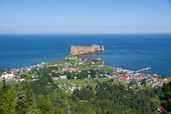 Horizontal de Percé dans Gaspesie #2 Photos stock