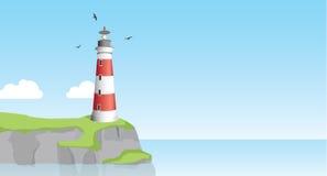 Horizontal de phare illustration stock