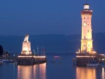 Horizontal de phare de Lindau image stock