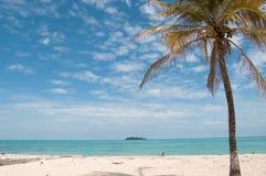 Horizontal de plage, île de San Andres Photos libres de droits