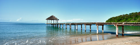 Horizontal de plage Photos libres de droits