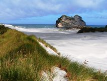 Horizontal de plage de la Nouvelle Zélande Images libres de droits