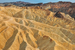 Horizontal de point de Death Valley Zabriskie Photos libres de droits