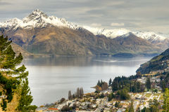 Horizontal de Queenstown Photographie stock libre de droits