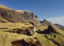 Horizontal de Quirang, Trotternish, île de Skye Photos libres de droits