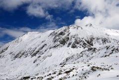 Horizontal de saison de montagne de l'hiver, Carpathiens Images libres de droits
