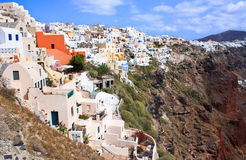 Horizontal de Santorini images libres de droits