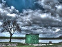 Horizontal de source avec un étang Photos stock
