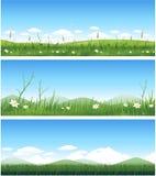 Horizontal de source de nature illustration stock