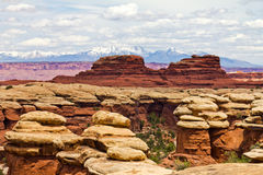 Horizontal de stationnement national de Canyonlands Photographie stock