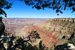 Horizontal de stationnement national de gorge grande, Arizona, Etats-Unis Image libre de droits