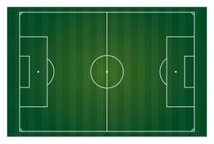 Horizontal de terrain de football d'isolement Images libres de droits
