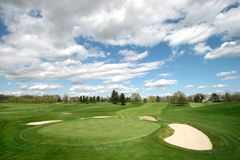 Horizontal de terrain de golf Image libre de droits