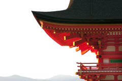 Horizontal de toit de pagoda, temple de Kyomizu-dera Image stock