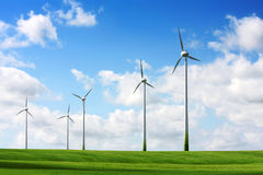 Horizontal de turbines de vent photos libres de droits