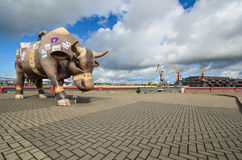 Horizontal de Ventspils Photographie stock