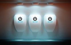 horizontal de vert d'énergie de concept d'ampoule neuf Photographie stock libre de droits