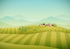 Horizontal de village illustration libre de droits